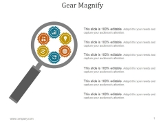 Gear Magnify Ppt PowerPoint Presentation Visuals