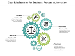 Gear Mechanism For Business Process Automation Ppt Powerpoint Presentation Infographics Microsoft