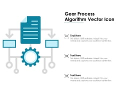 Gear Process Algorithm Vector Icon Ppt PowerPoint Presentation Infographic Template Sample PDF