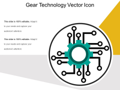 Gear Technology Vector Icon Ppt PowerPoint Presentation File Infographics PDF