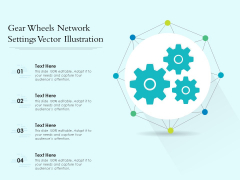 Gear Wheels Network Settings Vector Illustration Ppt PowerPoint Presentation Gallery Structure PDF