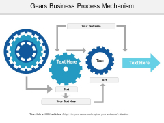 Gears Business Process Mechanism Ppt PowerPoint Presentation Ideas Templates PDF