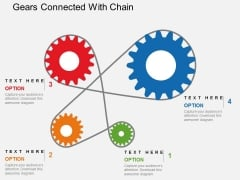 Gears Connected With Chain Powerpoint Templates