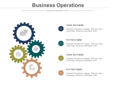 Gears Free Operations PowerPoint Slide