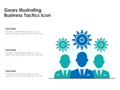 Gears Illustrating Business Tactics Icon Ppt PowerPoint Presentation File Display PDF