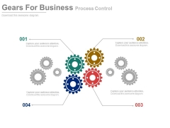 Gears Illustration For Business Process Mechanism Powerpoint Template