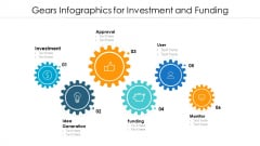 Gears Infographics For Investment And Funding Ppt PowerPoint Presentation File Background Image PDF