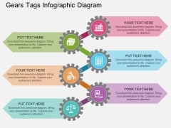 Gears Tags Infographic Diagram Powerpoint Template