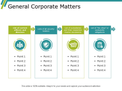 General Corporate Matters Ppt PowerPoint Presentation Styles Background Image
