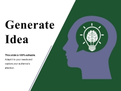 Generate Idea Ppt PowerPoint Presentation Layouts Graphics Example