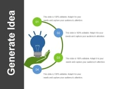 Generate Idea  Ppt PowerPoint Presentationpictures Outline