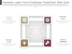 Generate Leads From A Database Powerpoint Slide Deck