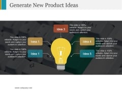Generate New Product Ideas Ppt PowerPoint Presentation Professional Master Slide
