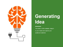 Generating Idea Ppt PowerPoint Presentation Outline