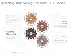 Generating Ideas Valuing Companies Ppt Example