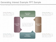 Generating Interest Example Ppt Sample