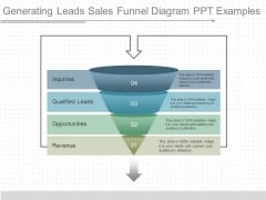 Generating Leads Sales Funnel Diagram Ppt Examples