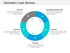 Generation Lead Services Ppt PowerPoint Presentation Gallery Cpb