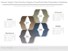 Generic Supply Chain Structure Diagram Powerpoint Slide Presentation Guidelines