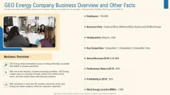 Geo Energy Company Business Overview And Other Facts Graphics PDF