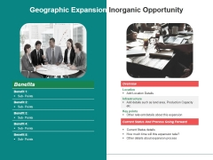 Geographic Expansion Inorganic Opportunity Ppt Powerpoint Presentation Inspiration Images