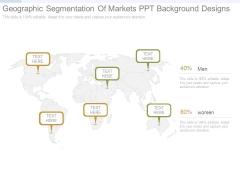 Geographic Segmentation Of Markets Ppt Background Designs