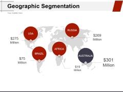 Geographic Segmentation Template 1 Ppt PowerPoint Presentation Inspiration Visuals