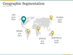Geographic Segmentation Template 2 Ppt PowerPoint Presentation Topics