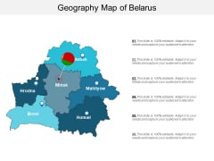 Geography Map Of Belarus Ppt PowerPoint Presentation Slides Portrait