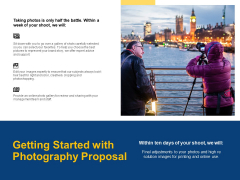 Getting Started With Photography Proposal Ppt PowerPoint Presentation File Mockup