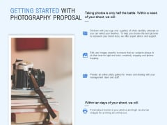 Getting Started With Photography Proposal Ppt PowerPoint Presentation Inspiration Microsoft