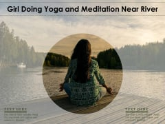 Girl Doing Yoga And Meditation Near River Ppt PowerPoint Presentation Gallery Brochure PDF