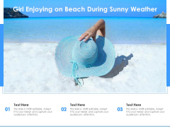 Girl Enjoying On Beach During Sunny Weather Ppt PowerPoint Presentation Styles Example File PDF