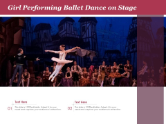 Girl Performing Ballet Dance On Stage Ppt PowerPoint Presentation Gallery Aids PDF