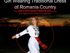 Girl Wearing Traditional Dress Of Romania Country Ppt PowerPoint Presentation File Visual Aids PDF