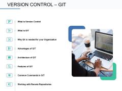 Git Overview Version Control Git Ppt Icon Gridlines PDF