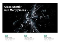 Glass Shatter Into Many Pieces Ppt PowerPoint Presentation Icon Themes