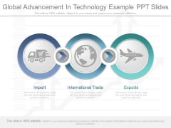 Global Advancement In Technology Example Ppt Slides