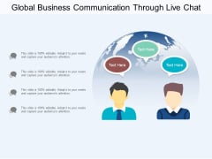 Global Business Communication Through Live Chat Ppt PowerPoint Presentation Portfolio Designs