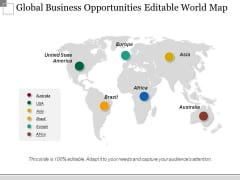 Global Business Opportunities Editable World Map Ppt PowerPoint Presentation Styles Background Image