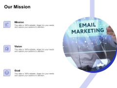 Global Cloud Based Email Security Market Our Mission Ppt Icon Example Introduction PDF