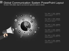 Global Communication System Powerpoint Layout