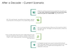 Global Financial Catastrophe 2008 After A Decade Current Scenario Ppt Icon Templates PDF