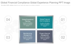 Global Financial Compliance Global Experience Planning Ppt Image