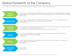 Global Footprints Of The Company Ppt Clipart PDF