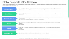 Global Footprints Of The Company Ppt Infographics Graphic Tips PDF