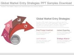 Global Market Entry Strategies Ppt Samples Download