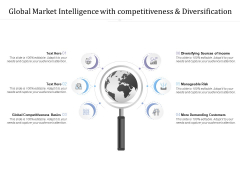 Global Market Intelligence With Competitiveness And Diversification Ppt PowerPoint Presentation Icon Designs Download