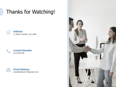 Global Market Segmentation Thanks For Watching Ppt PowerPoint Presentation Infographics Guide PDF