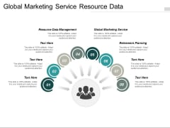Global Marketing Service Resource Data Management Retirement Planning Ppt PowerPoint Presentation Layouts Infographics